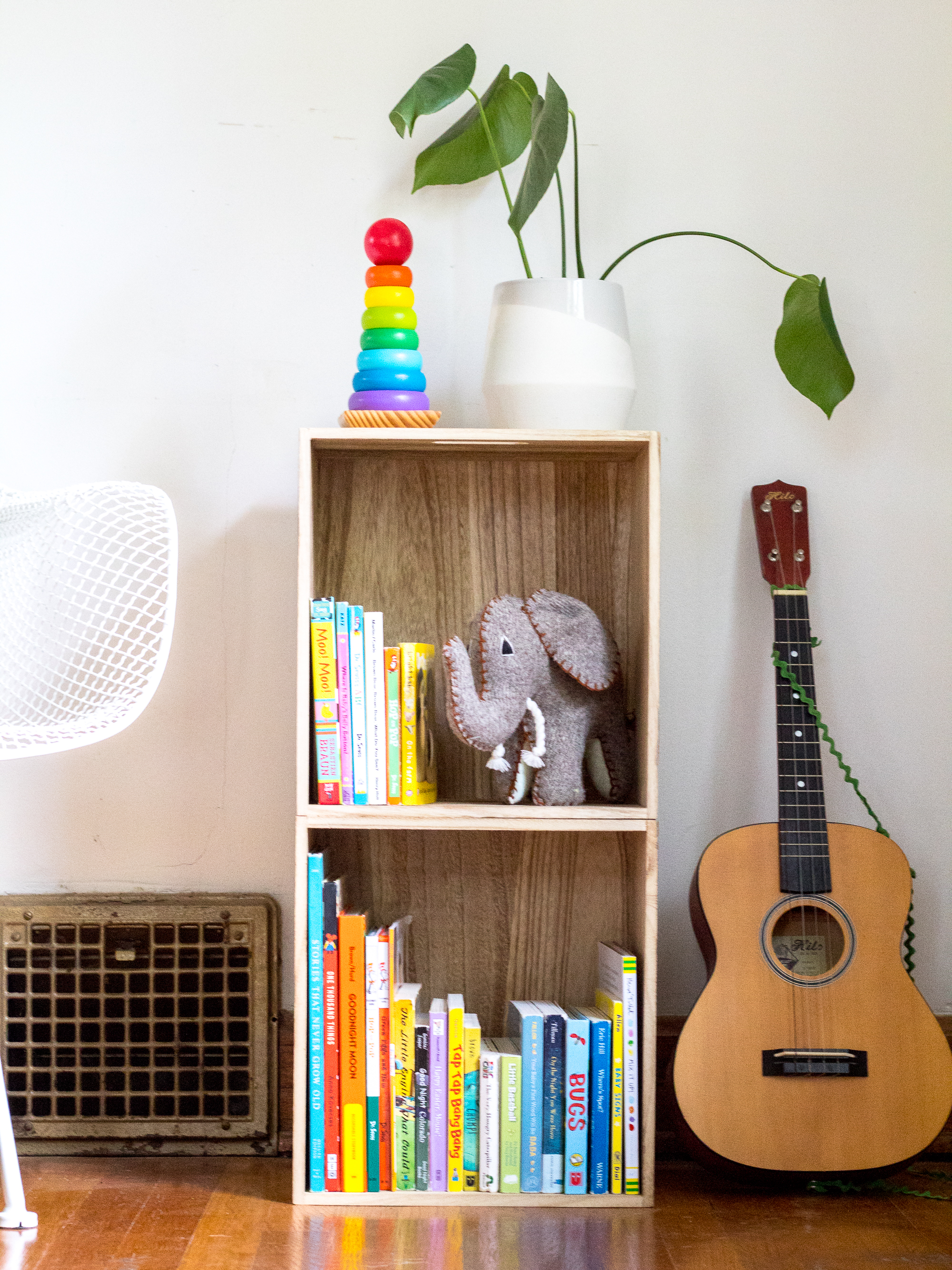 target pillowfort hack small wood bookshelf