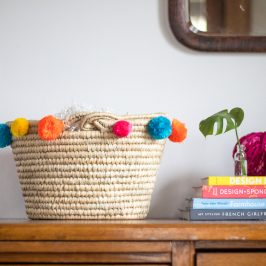 Stupid-Easy DIY Pom Pom Easter Basket