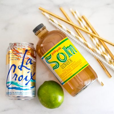 mocktail with la croix pok pok drinking vinegar