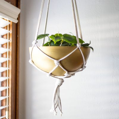 diy brass hanging planter ikea hack