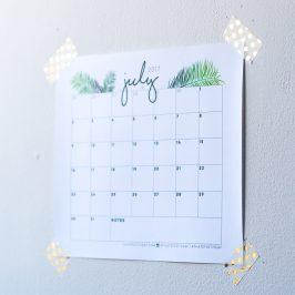 Free Digital Download: July 2017 Calendar