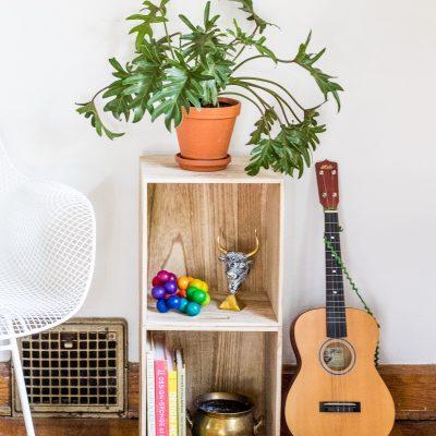 target pillowfort hack DIY small wood bookshelf