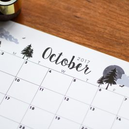 Free Digital Download: October 2017 Calendar