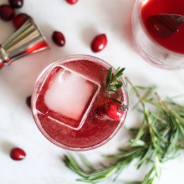 A Thanksgiving AF Cranberry Shrub