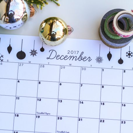 free printable december 2017 calendar