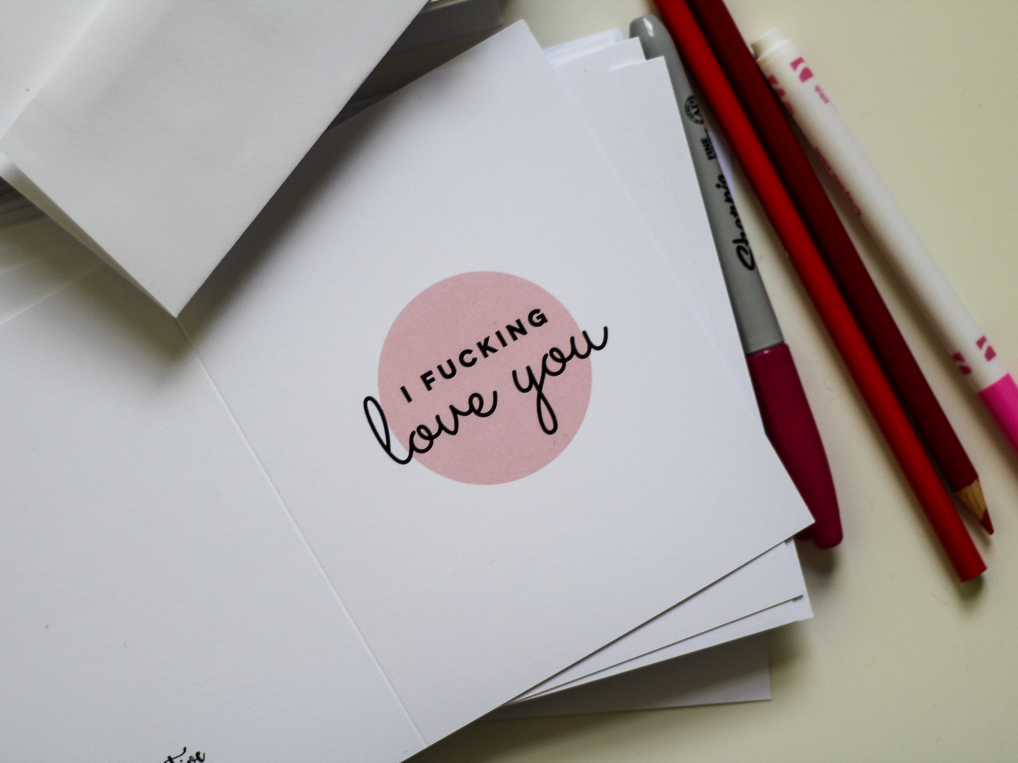 i fucking love you greeting card