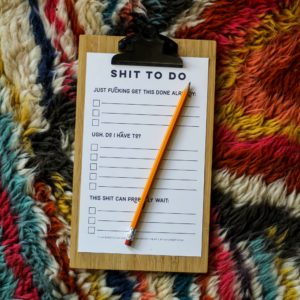 Free Printable Shit To Do List