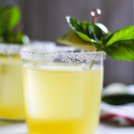 A Spicy Basil Margarita for A Cold-Ass Spring