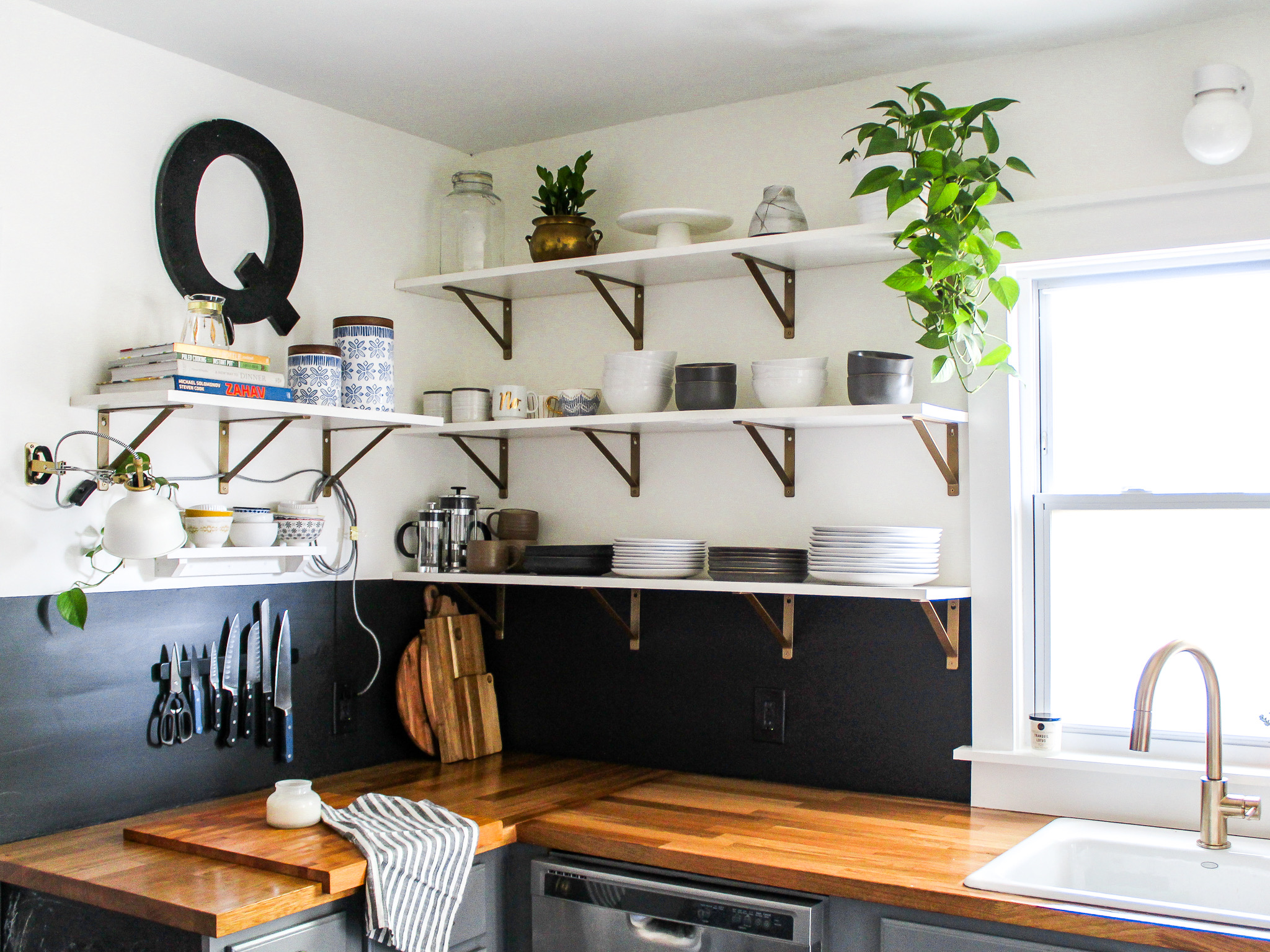 DIY Kitchen Renovation Black Paint