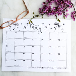 Free Download: May 2018 Calendar