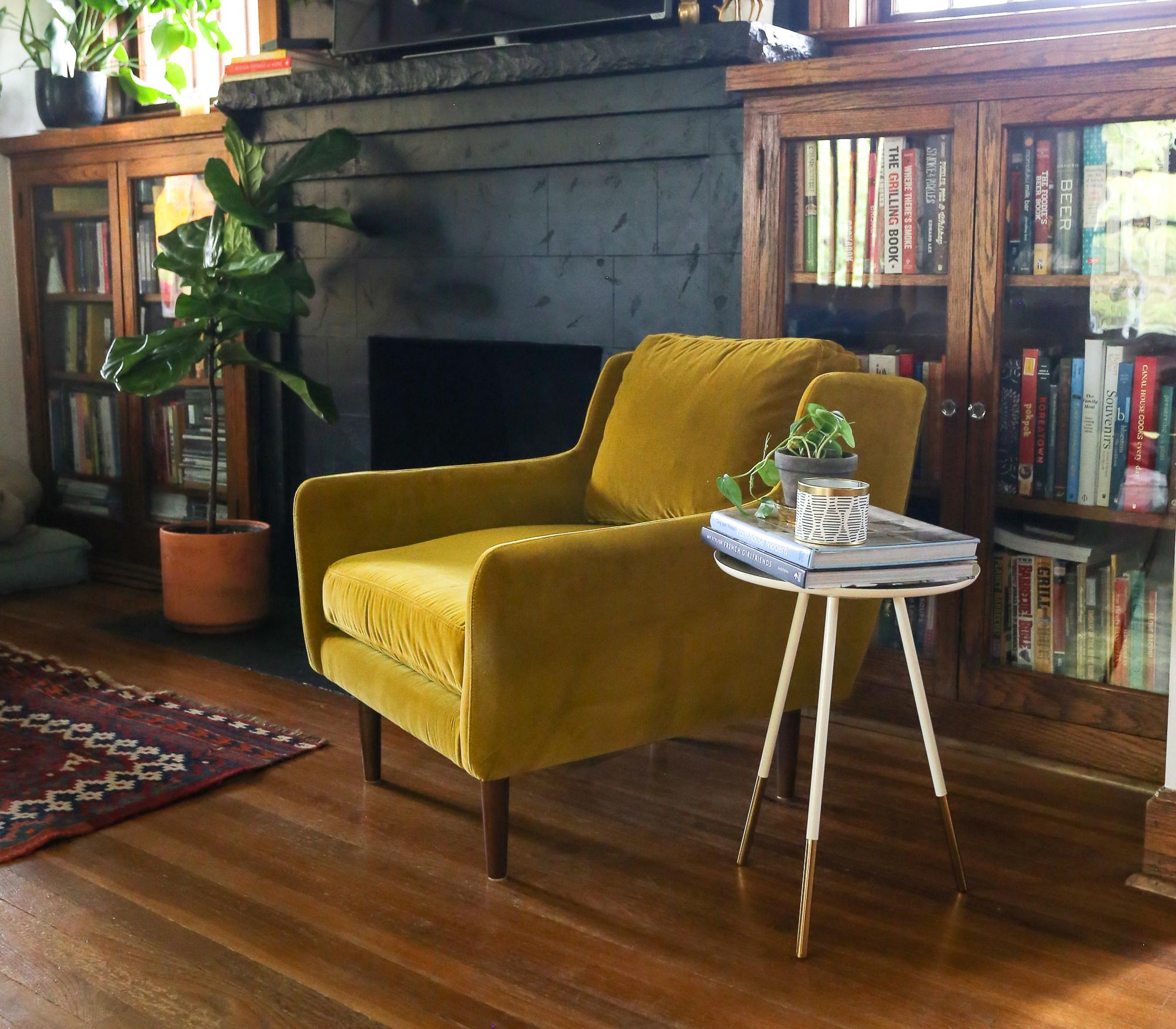 gold velvet chair article matrix yarrow