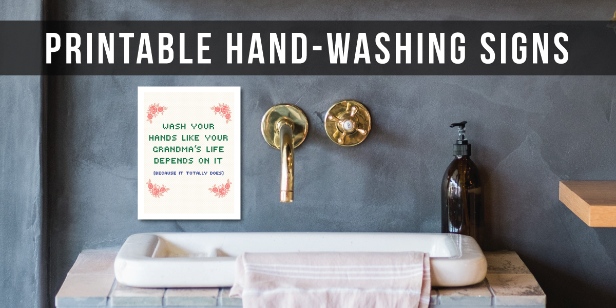 Printable Hand-Washing Signs 8.5 x 11