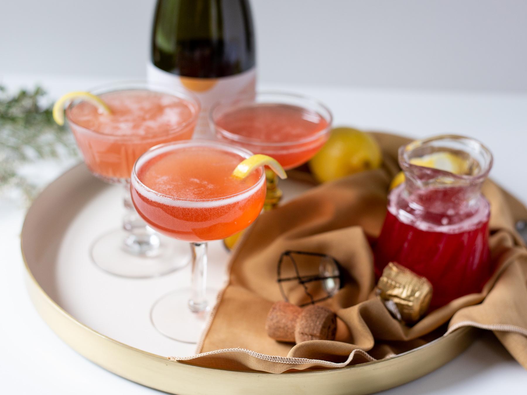 rhubarb season rosé cocktail